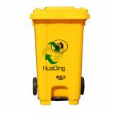 Scomparto residuo di plastica ecologico 120L/240L con due rotelle