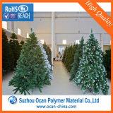 Roulis en plastique vert-foncé de feuille de PVC pour des lames d'arbre de Noël