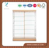 Подгонянный большой витринный шкаф с задней частью & раздвижной дверью стекла