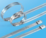 Strichleiter-einzelner Widerhaken-Verschluss-Typ-Rostfreie Stahlkabelbinder