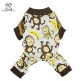 연약한 면 사랑스러운 원숭이 개 잠옷 셔츠 애완 동물 옷