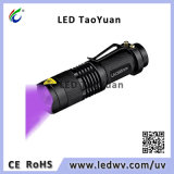 UV-Ultraviolette Taschenlampen-Minifackel 395nm 3W LED-Blacklight