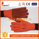 Cotone 2017 di Ddsafety o puntini del PVC dei guanti lavorati a maglia poliestere