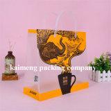 Sacchetti di acquisto di plastica del PVC della radura di lusso di disegno per il pacchetto dell'indumento (sacchetti di acquisto di plastica)