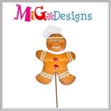 Estaca atractiva del hombre de pan de jengibre de la Navidad del metal
