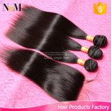閉鎖が付いているペルーのバージンの毛閉鎖4X4の閉鎖が付いているまっすぐのペルーのバージンの毛を搭載する閉鎖の人間の毛髪を搭載する3束