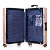 Nuevos equipaje y carretilla de la manera del ABS con la maneta de cuero