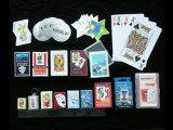 Подгонянные тигром карточки бумажного покера играя
