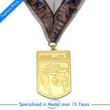 Medaglia d'argento su ordinazione di rugby di Whollesale per il ricordo