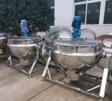 Inclinar-Tipo de gas con camisa de cocina que cocina la sopa Caldera Caldera