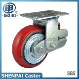 """8 """"鉄心PUの単一のばねの旋回装置の耐震性の足車の車輪"""