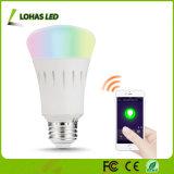 Colorear el bulbo elegante controlado WiFi cambiante de RGBW E26 3W 5W 7W 9W LED con el APP