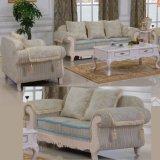 Gewebe-Sofa mit hölzernem Sofa-Rahmen und Seiten-Tisch (D92B)