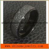 Blacek покрыло ювелирные изделия кольца поверхности песка крена (SSR2745)