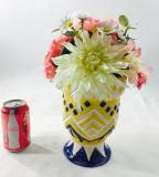 Bonsais de cerámica coloridos de la decoración de las flores artificiales
