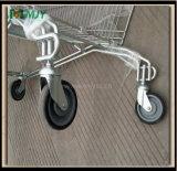 Cinc de la carretilla de las compras del supermercado de Cadde plateado con la capa de epoxy clara Mjy-Sec160
