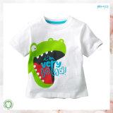 연약한 유기 아기 의복 긴 소매 남자 아기 아기 t-셔츠