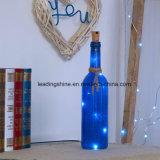 La bouteille de liège allume les éclairages LED féeriques de chaîne de caractères 15 ampoules de DEL pour Noël de festival de concert de mariage d'usager