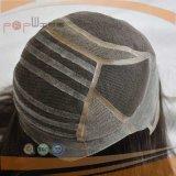 脱毛症のかつらのための一等級PUのシリコーンの境界のモノラル絹の上の通気性の容易な摩耗