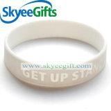 Förderung-Geschenk-Debossed gefüllter Farben-SilikonWristband