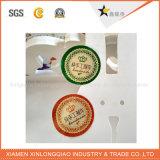 Seguridad rápida impresión de la etiqueta del logotipo personalizado de papel adhesivo holograma de la etiqueta engomada
