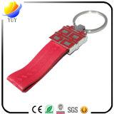 Kundenspezifischer echtes Leder-Hochzeits-Schlüsselring-Schlüsselkette
