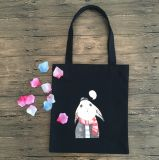 Sacchetto di Tote riutilizzabile personalizzato ricordo di acquisto del cotone della tela di canapa