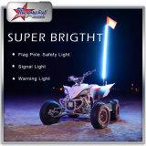 4개 피트 유연한 지팡이 빛에 원격 제어에 의하여 ATV UTV 2 륜 마차를 위한 빛 5개 피트 RGB LED 깃발 안테나