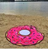 2017新しいRoundieのビーチタオル、ふさが付いている円形タオル、限られた円形のビーチタオル