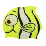 Unisex Kids Baby Boys Girls Cartoon Silicone Waterproof Swimming Cap