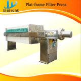 Imprensa de filtro com a placa puxando automática e a placa de recepção material