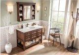 最近方法熱い販売の上の古典的な純木の浴室の虚栄心