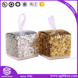 Embalaje envuelto cuero elegante rápido del rectángulo de regalo del papel de la cartulina de la manera de la salida del rectángulo de papel