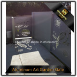 Porta de jardim decorativa do metal do corte do laser