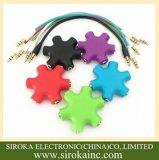 셀룰라 전화를 위한 다채로운 3.5mm 오디오 입체 음향 이어폰 쪼개는 도구