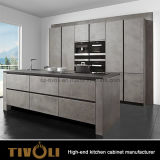Neue Fingerpull Küche-Entwurfs-Qualitäts-Ebenen-weiße Lack-Küche-Schränke Tivo-0065V