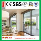 Porte coulissante en aluminium en verre de porte coulissante