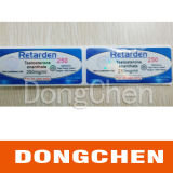 Etiqueta farmacêutica do tubo de ensaio do holograma 10ml feito sob encomenda livre quente do projeto da venda