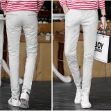 Men Classic Fit Casual Cotton Chino Navy Pants