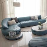 El sofá de cuero de tres asientos para la casa utilizó (UL-NSC264)