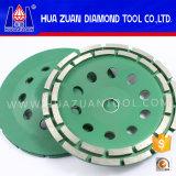 Roue de meulage de cuvette de diamant de Huazuan 5-Inch pour le béton, cuvette de meulage concrète