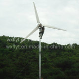 3kw Horizontal vento gerador de turbina para ligar / desligar Grid System flange Blades