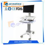 Krankenhaus-mobile medizinische Arbeitsplatz-Laufkatze für Laptop 15 ' '17 '' (GT-WT01)