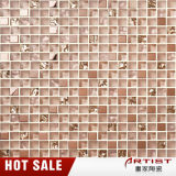 Venta al por mayor estilo indio de cristal de lujo mosaico de oro para la decoración de la pared