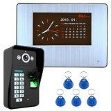Wechselsprechanlage-Türklingel-Fingerabdruck-video Tür-Telefon-inländisches Wertpapier-Warnungssystem