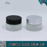 vaso di vetro vuoto di vetro glassato del contenitore 20ml per la crema di fronte