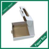 Corruagted caja de envío blanco llano con al por mayor de la manija