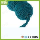 Giocattoli di lana del gatto della sfera del sisal, giocattolo del cane