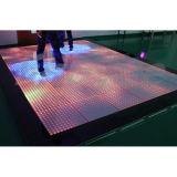Iluminación interactiva de la etapa de los pixeles LED Dance Floor del disco 12X12 de DJ