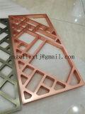 Fabrication matérielle en aluminium de diviseur de pièce d'acier inoxydable d'écran d'art de partition de couleur d'or